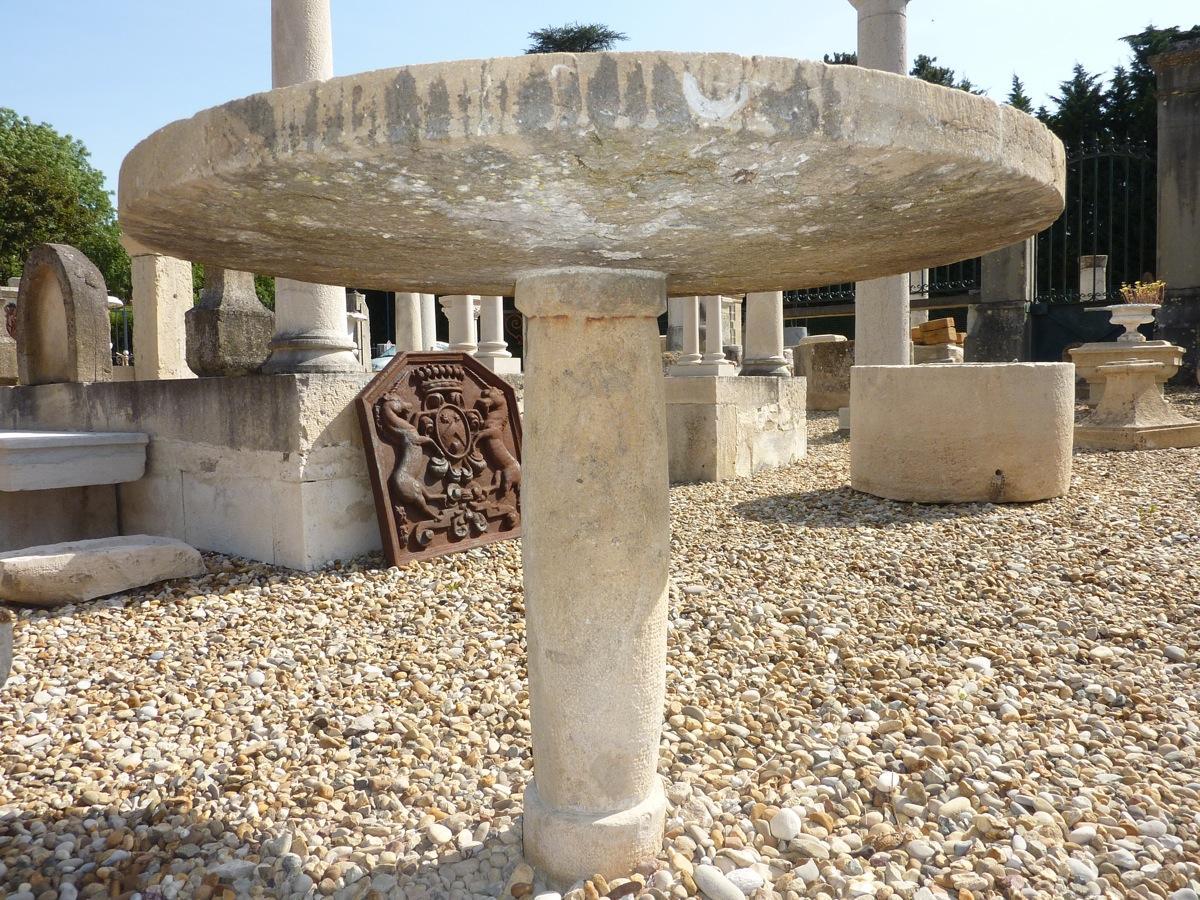 Table de jardin en pierre pierre xviiie s dj 102 - Table de jardin en pierre ...