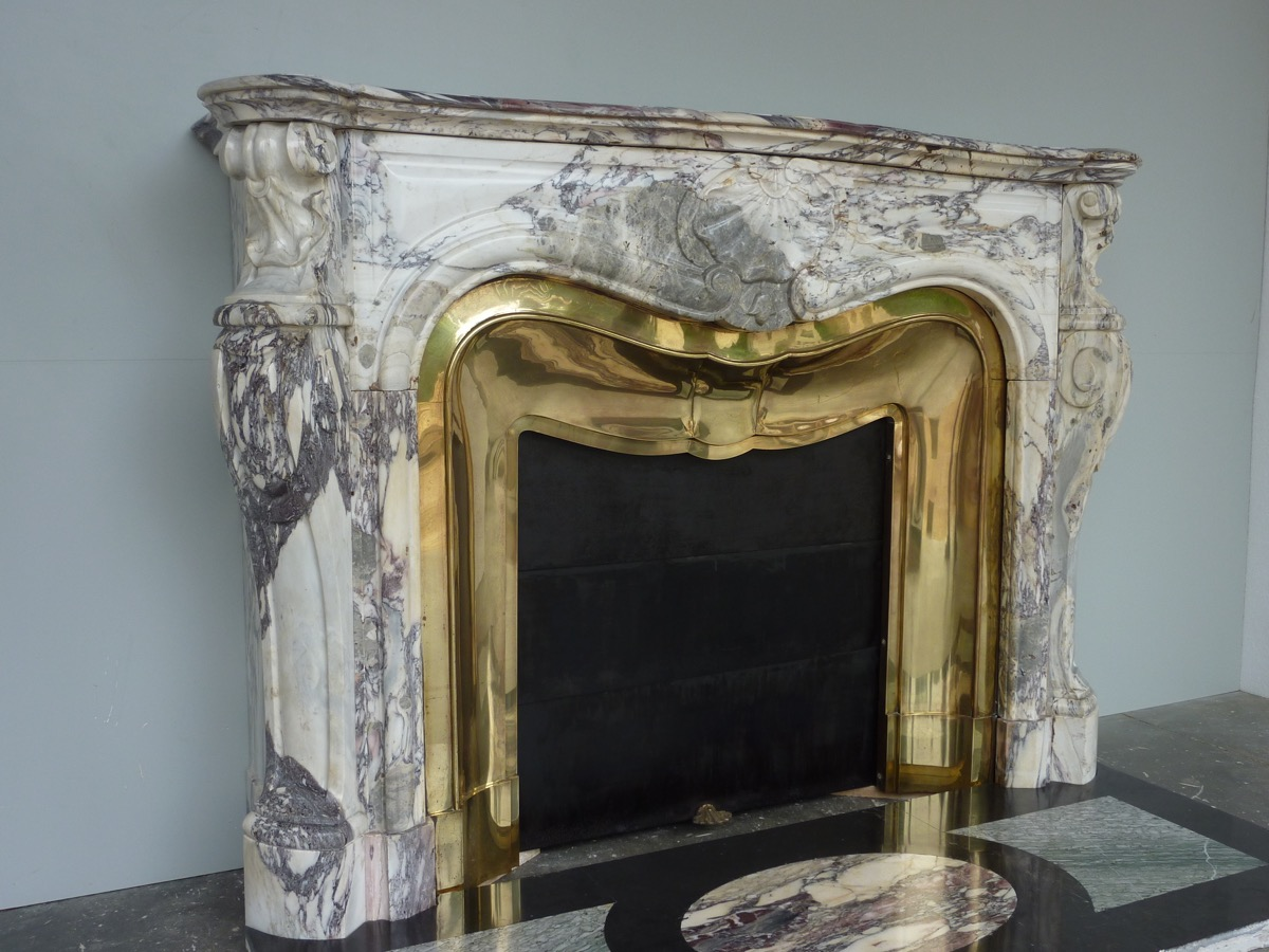 antique fireplace marble louis xv xixth c c 1031