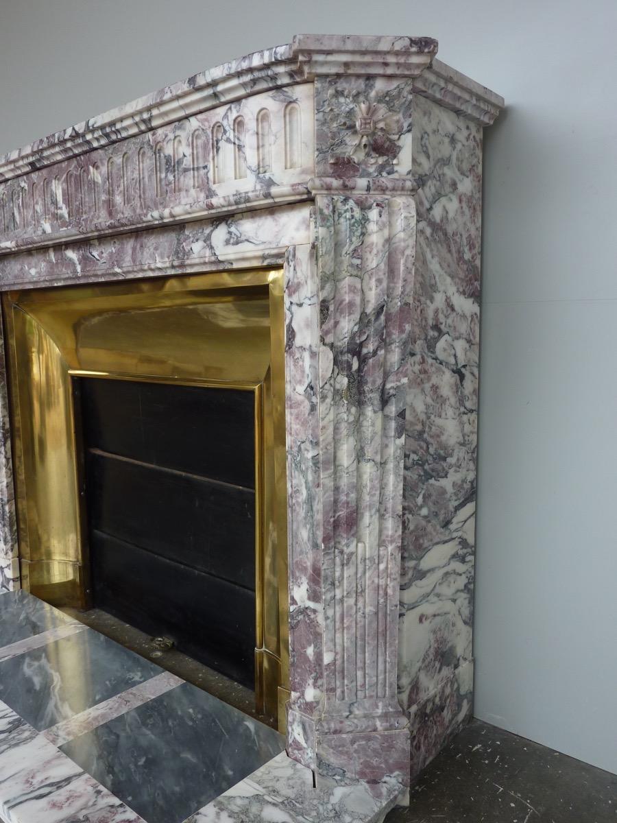 chemin e ancienne marbre louis xvi xxe s c 1044. Black Bedroom Furniture Sets. Home Design Ideas