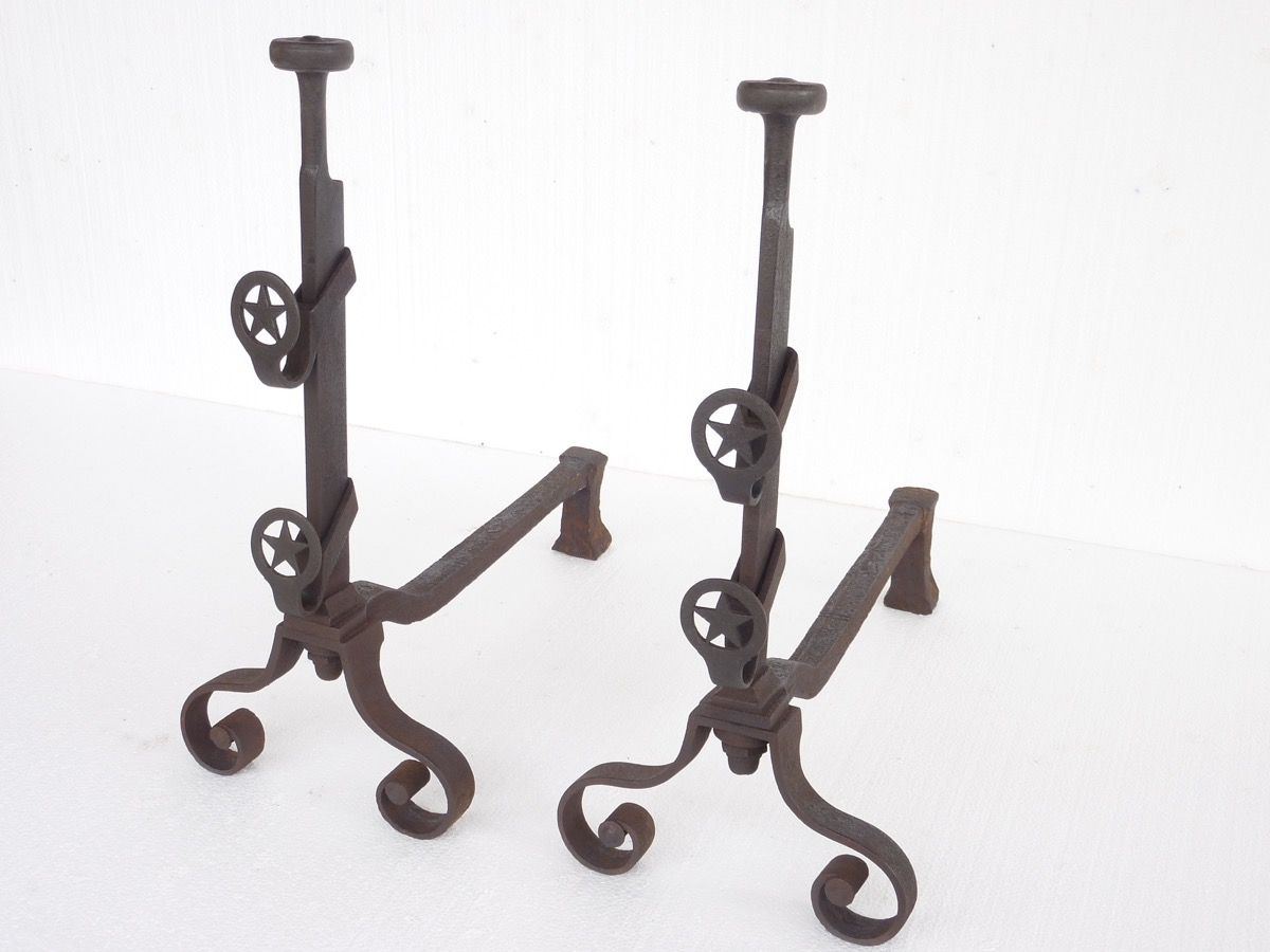 Antique andiron  - Wrought iron - Empire - XIX<sup>th</sup> C.