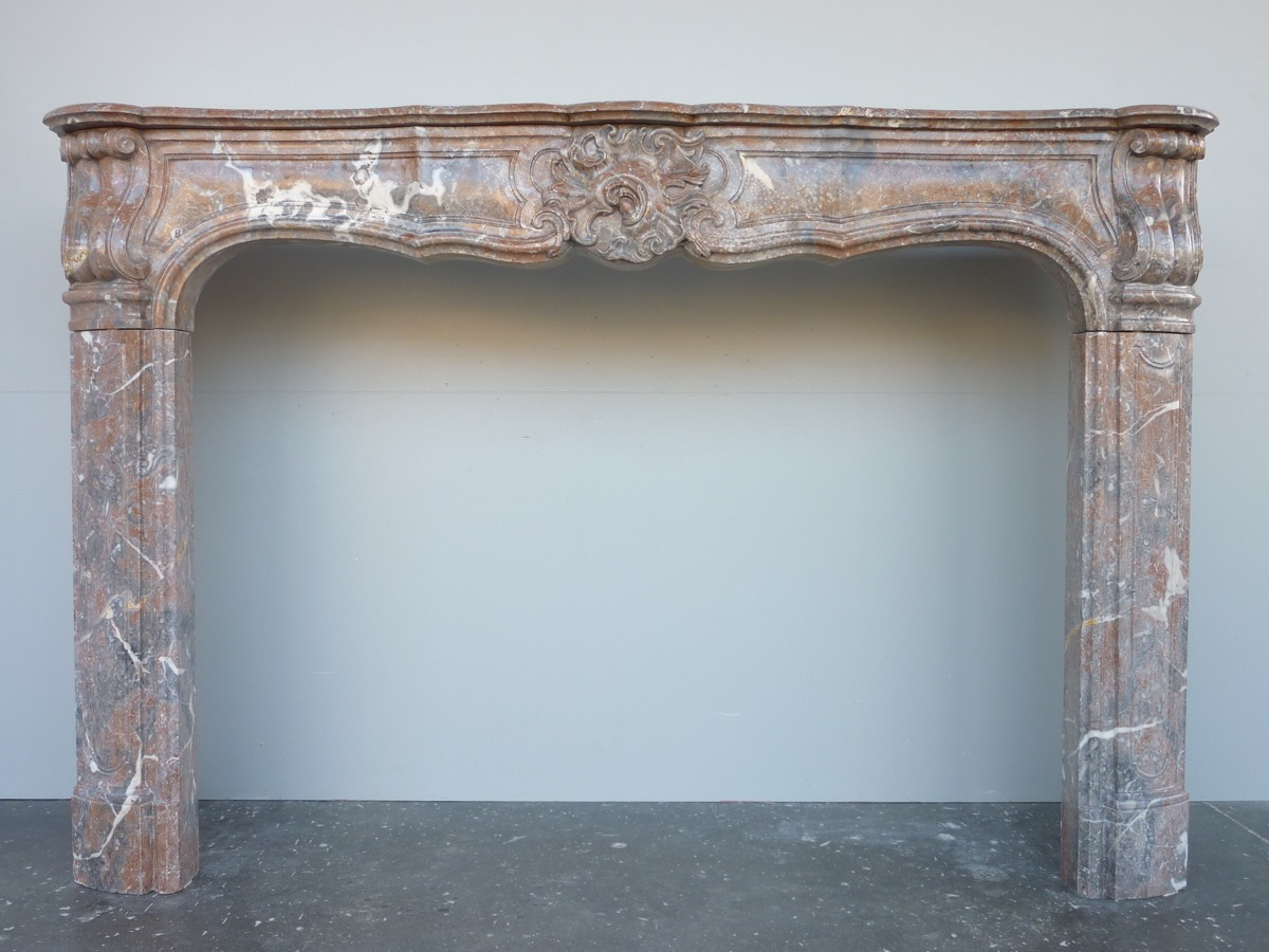 Antique fireplace  - Marble - Louis XV - XVIIIth C.