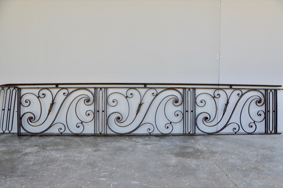Antique balcony, Balustrade  - Wrought iron - Louis XV - XXth C.