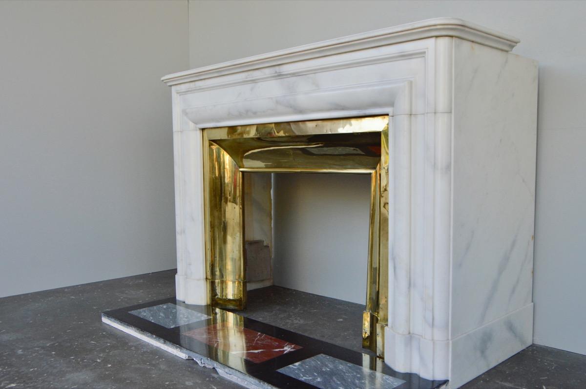 chemin e ancienne marbre napol on iii xixe s c 1149. Black Bedroom Furniture Sets. Home Design Ideas