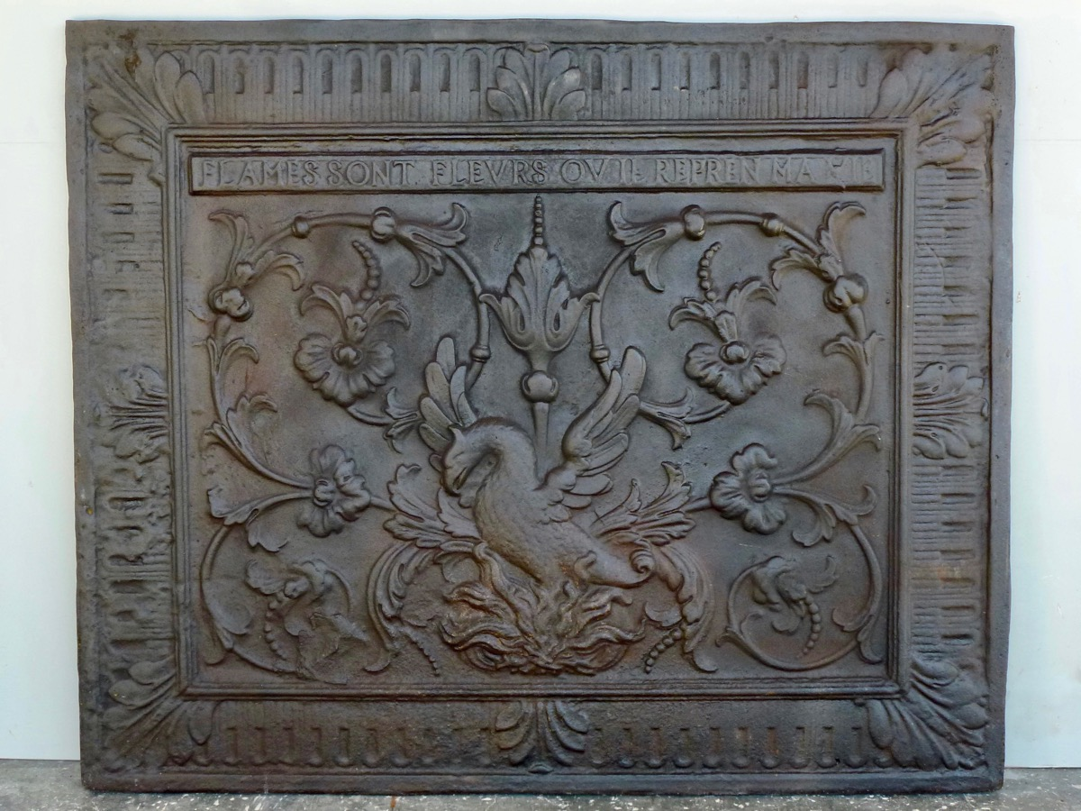 Antique fireback, Cast iron fire-back  - Cast iron - Renaissance - XIXth C.