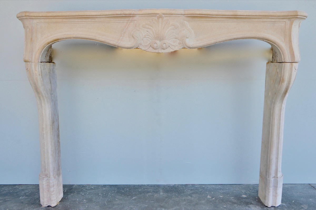 Antique fireplace  - Stone - Louis XV - XVIIIth C.