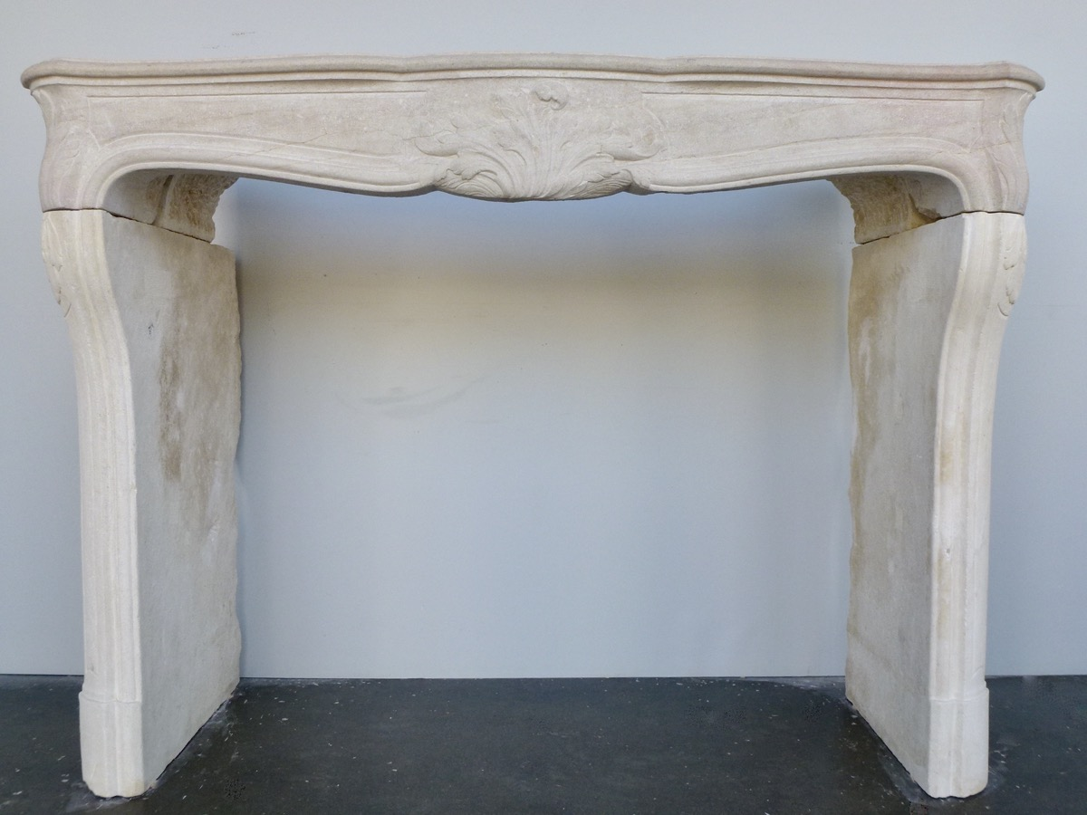 Antique fireplace  - Stone - Régence - XVIIIthC.