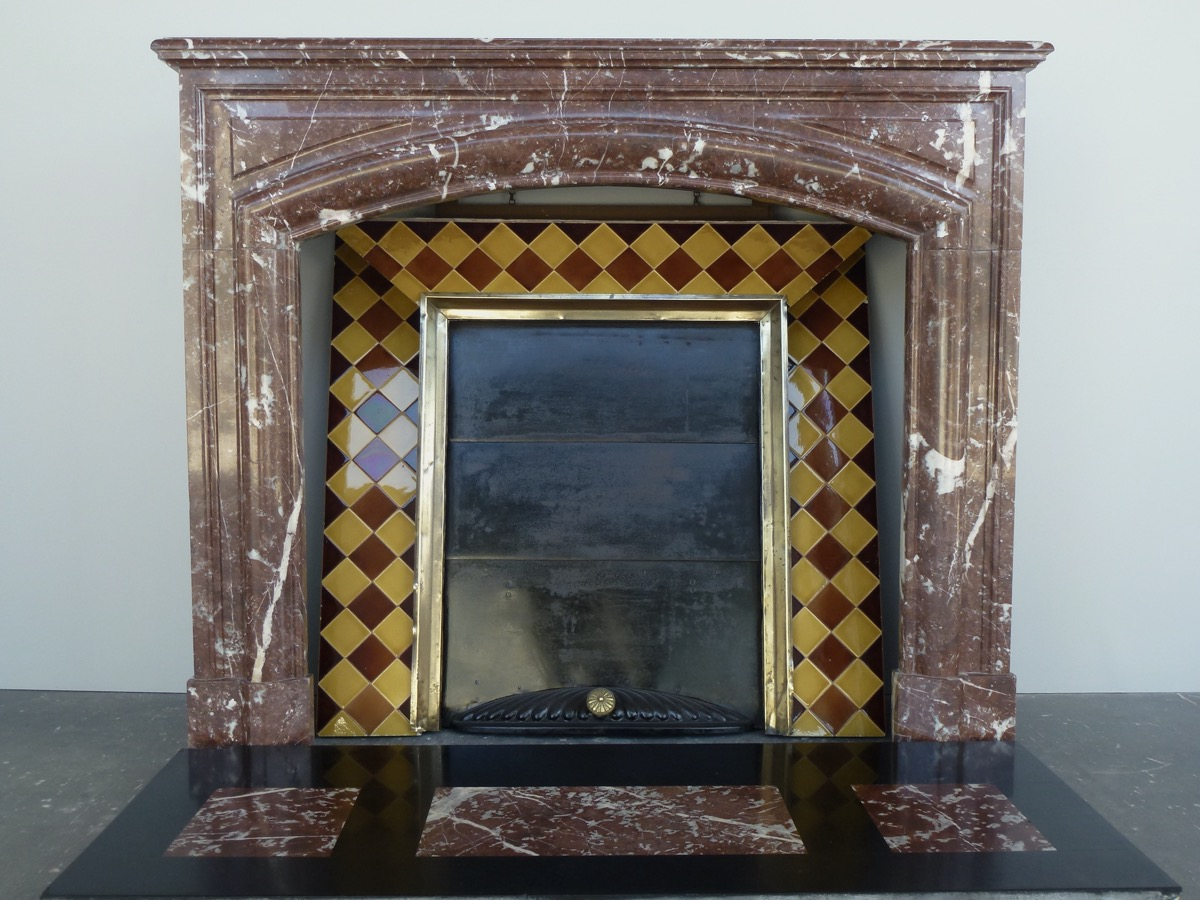 Antique fireplace  - Marble - Louis XIV - XIXthC.