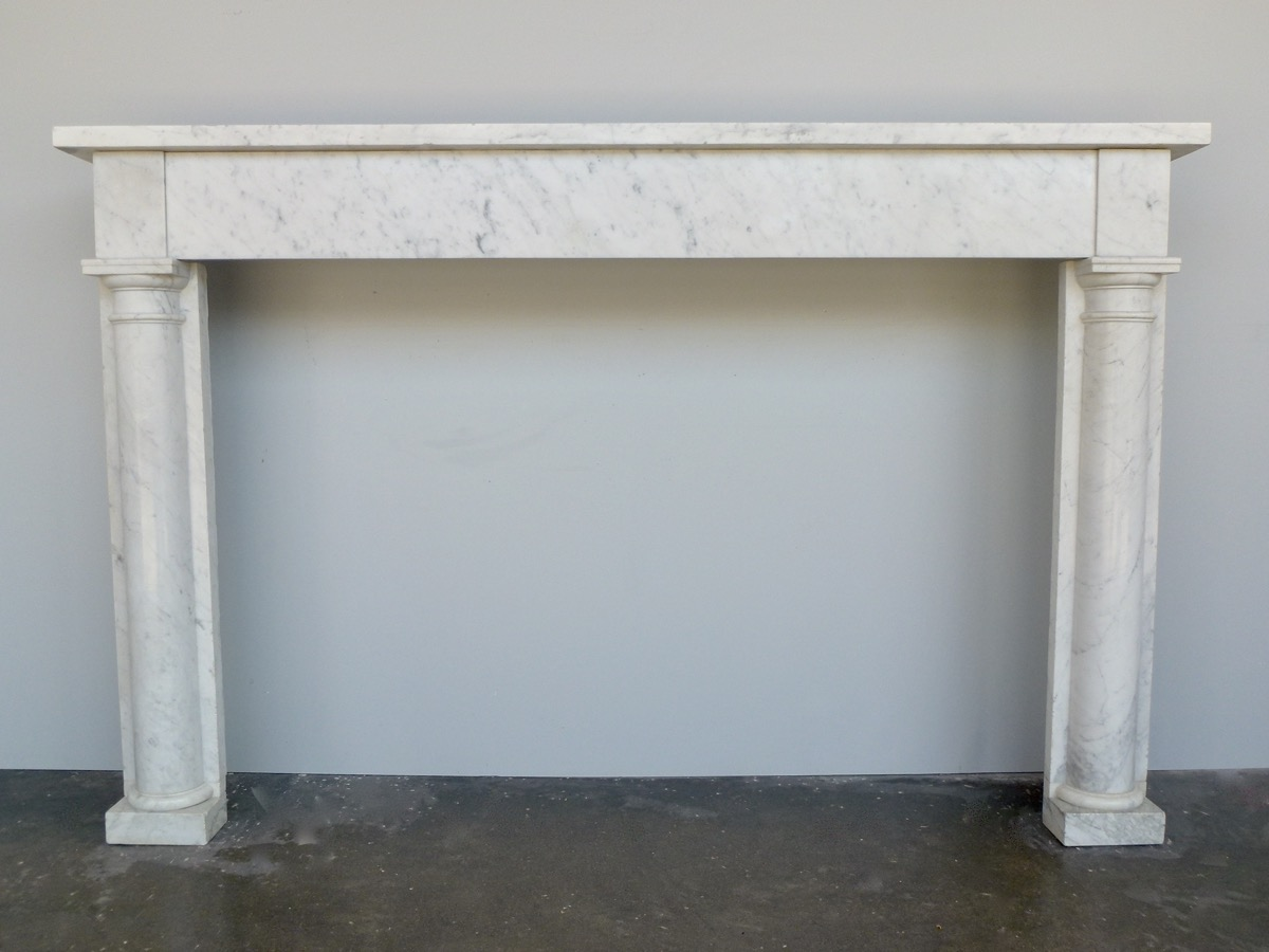 Antique fireplace  - Marble - Directoire - XIXthC.