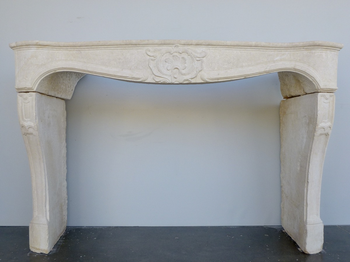Antique fireplace  - Stone - Louis XV - XVIIIthC.