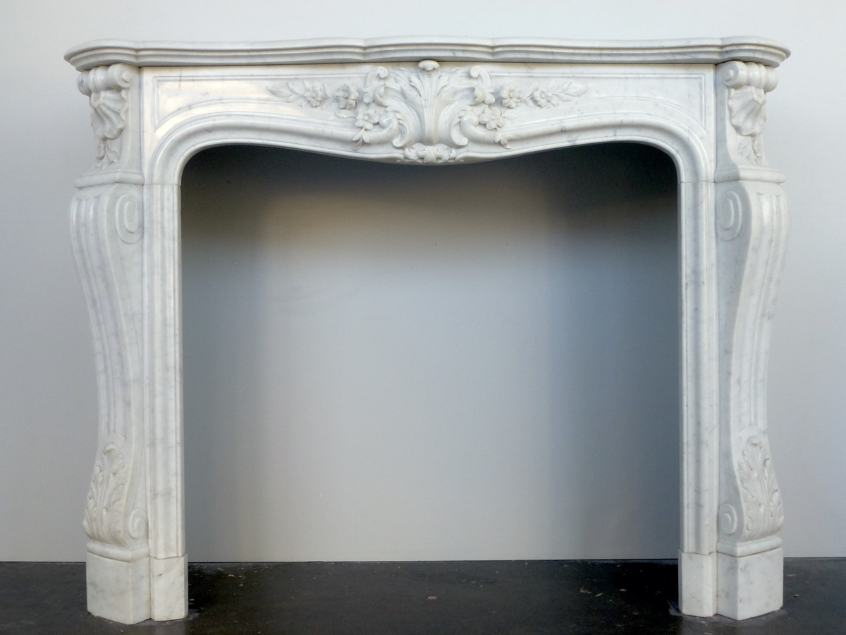 Antique fireplace  - Marble - Louis XV - XIXthC.
