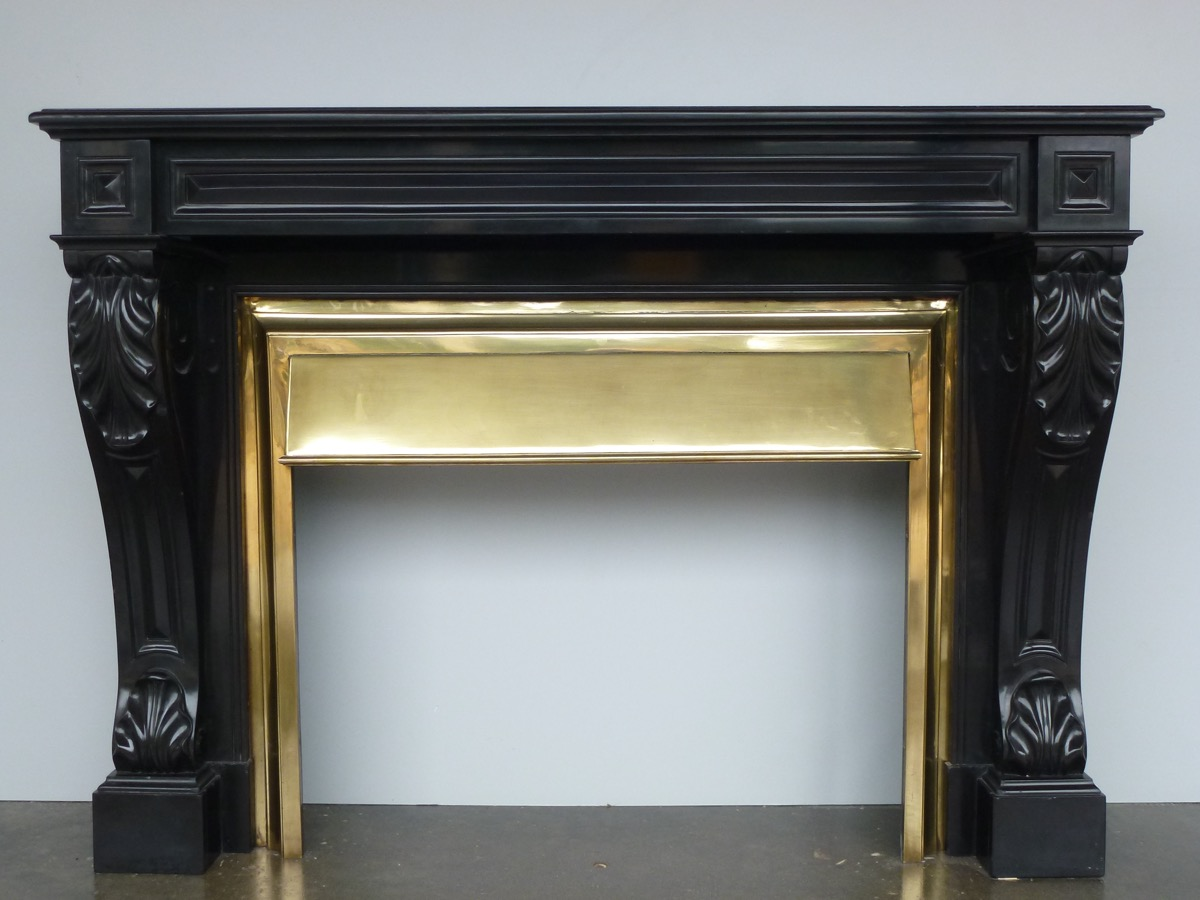 Antique fireplace  - Marble - Restauration - XIXthC.