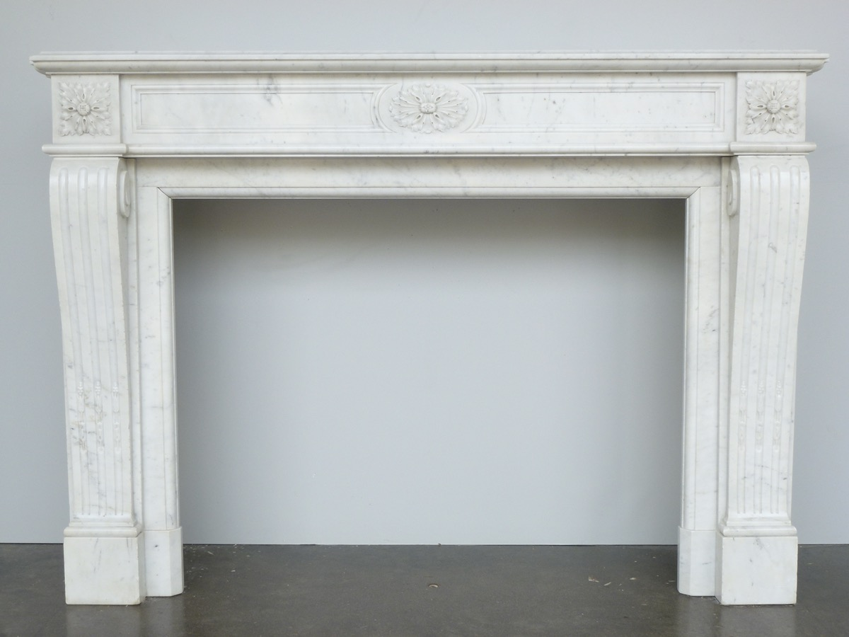 Antique fireplace  - Marble - Louis XVI - XIXthC.