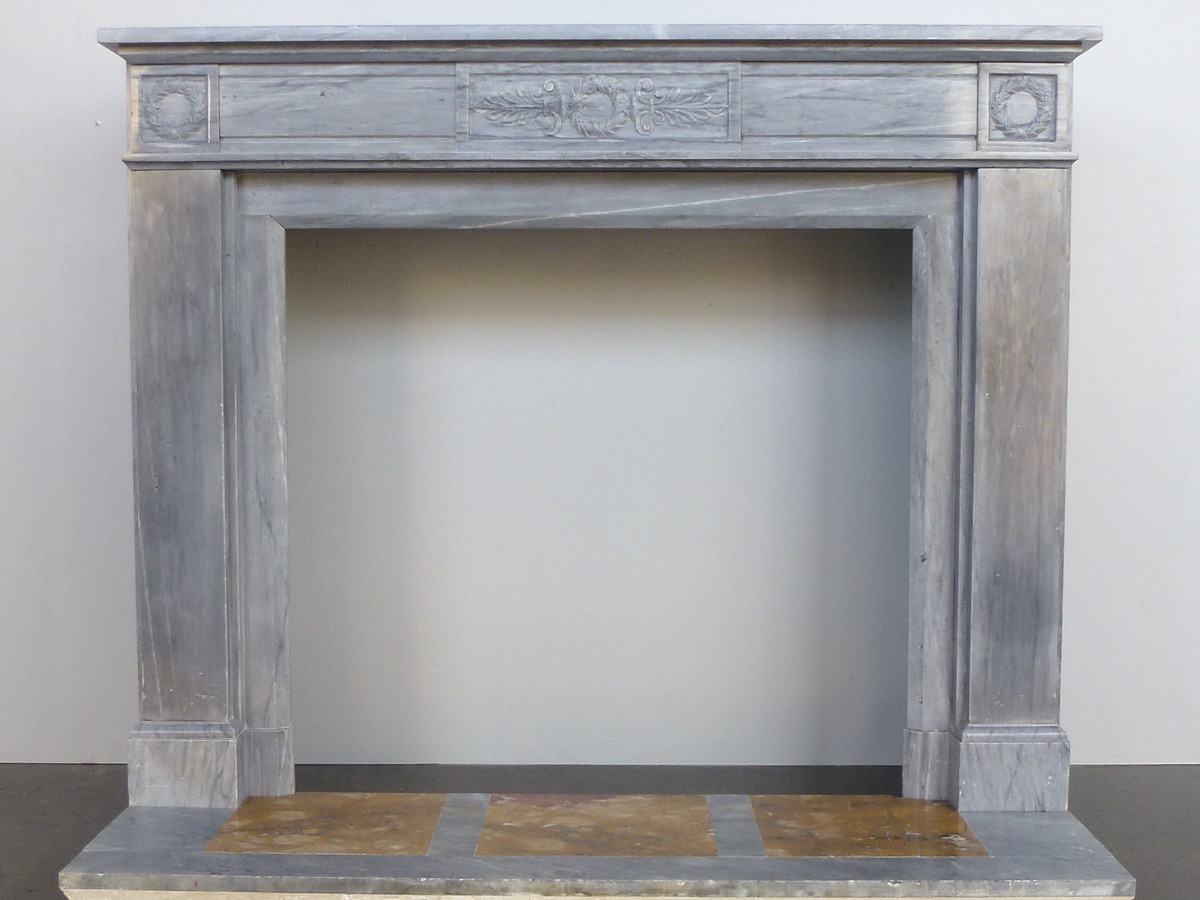 Antique fireplace  - Marble - Empire - XIXthC.