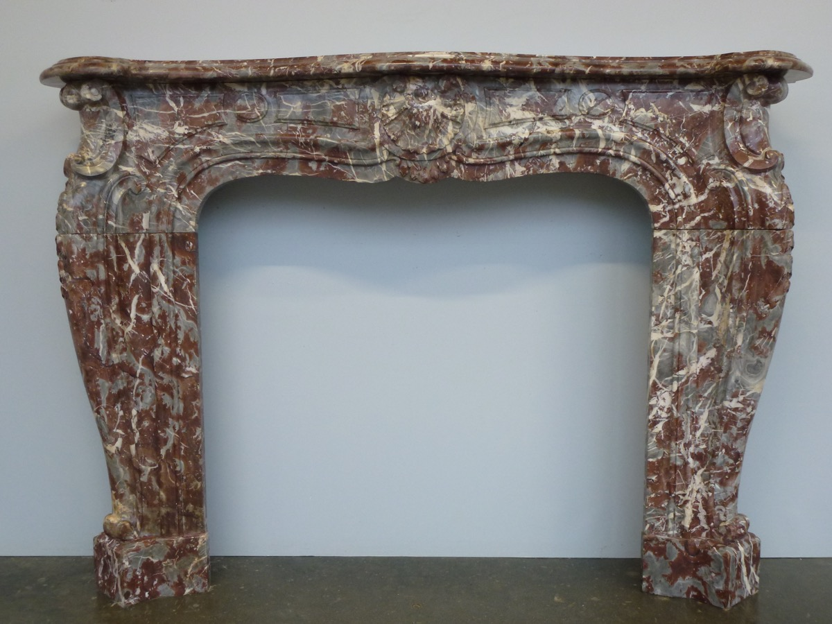 Antique fireplace  - Marble - Régence - XIXthC.