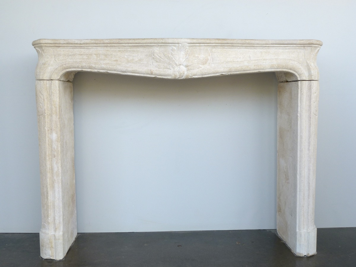 Antique fireplace  - Stone - Régence - XVIIIth C.