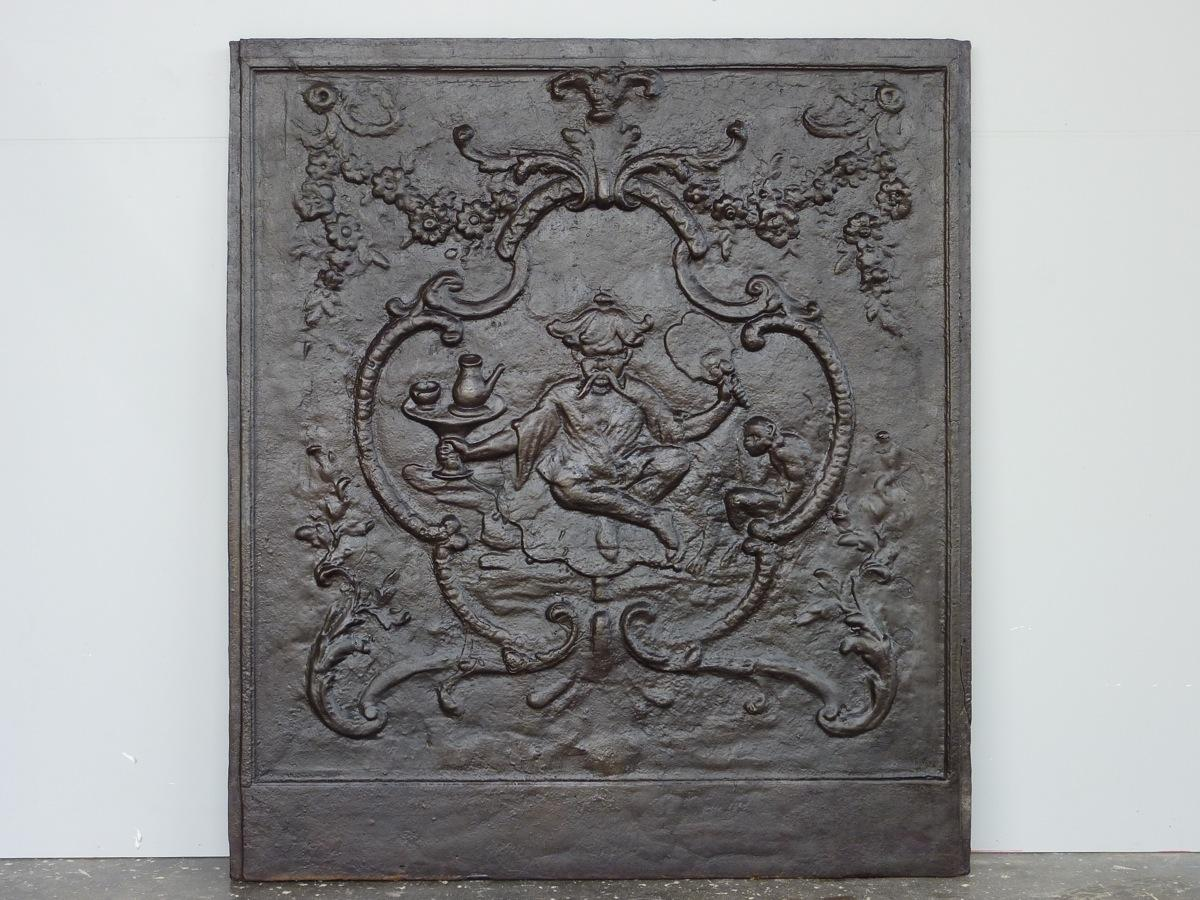 Antique fireback, Cast iron fire-back  - Cast iron - Louis XV - XIXthC.