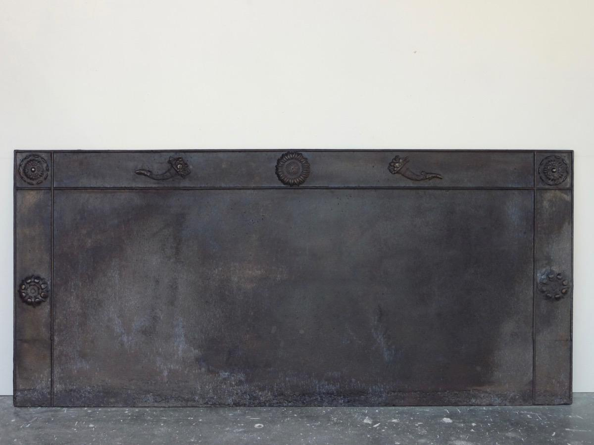 Antique fireback, Cast iron fire-back  - Cast iron - Restauration - XIXthC.