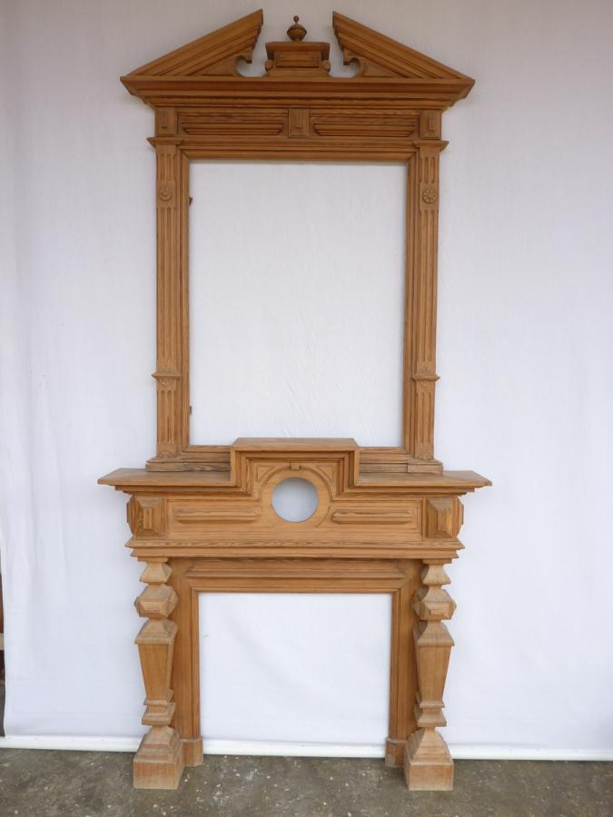 Antique fireplace  - Wood - Haussmannien - XIXthC.