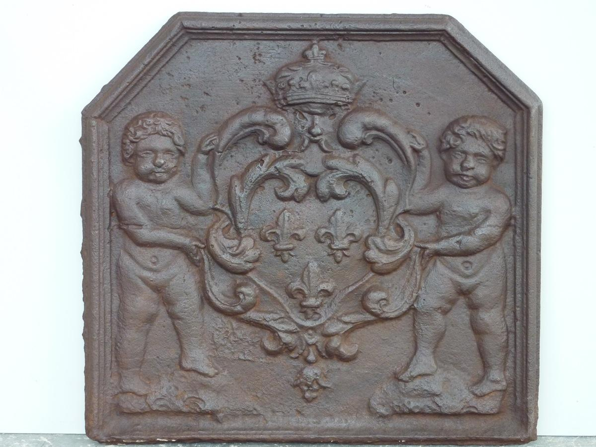 Antique fireback, Cast iron fire-back  - Cast iron - Haussmannien - XVIIIthC.