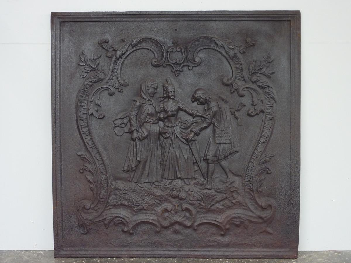 Antique fireback, Cast iron fire-back  - Cast iron - Louis XV - XXthC.