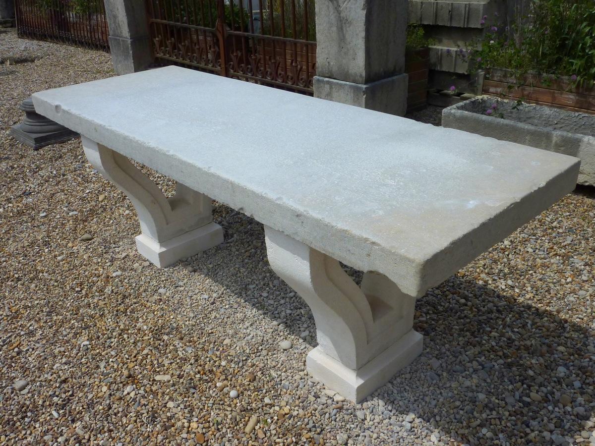 Table de jardin en pierre - Pierre - Néo-classique - XIXe S ...