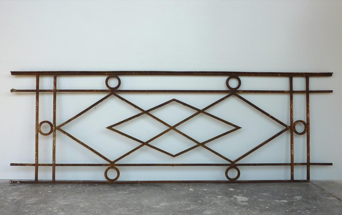 Antique balcony, Balustrade  - Wrought iron - Directoire - XVIIIth C.