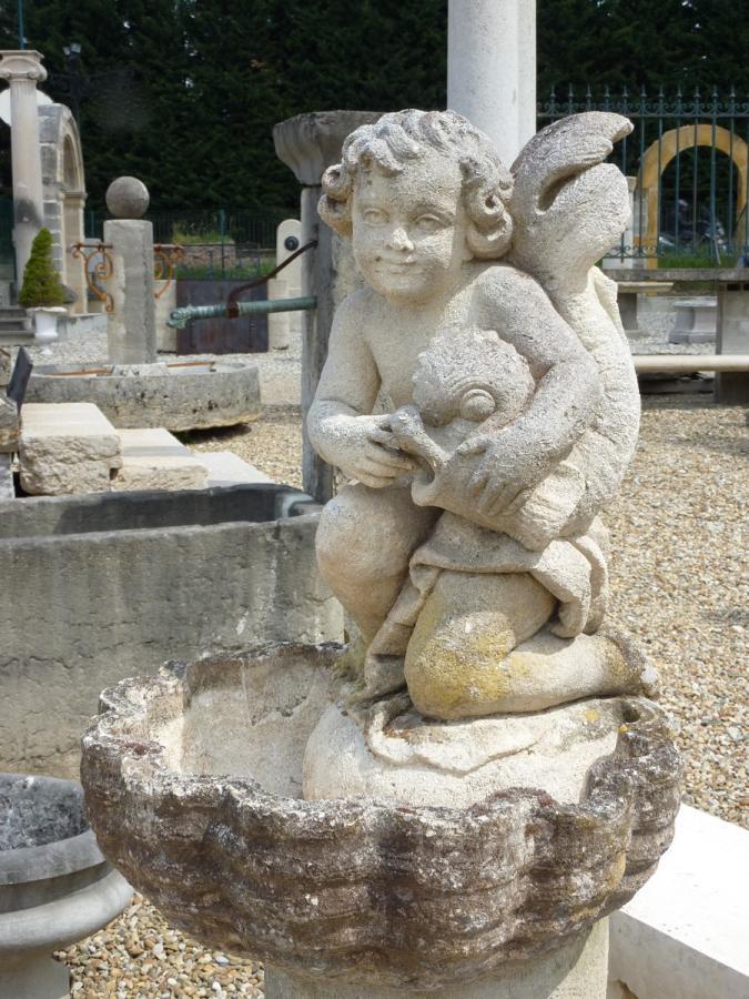 Fontaine en pierre ancienne pierre louis xiv xixe s dj 588 for Fontaine de jardin en pierre ancienne