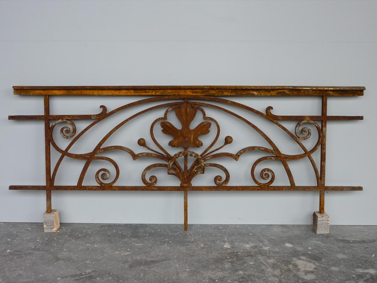 Antique balcony, Balustrade  - Wrought iron - Art nouveau - XXth C.