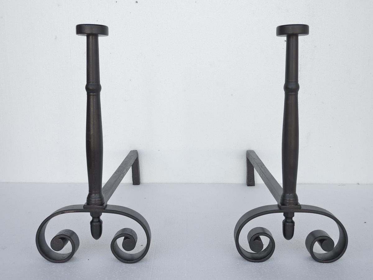 Antique andiron  - Wrought iron  - XIXthC.