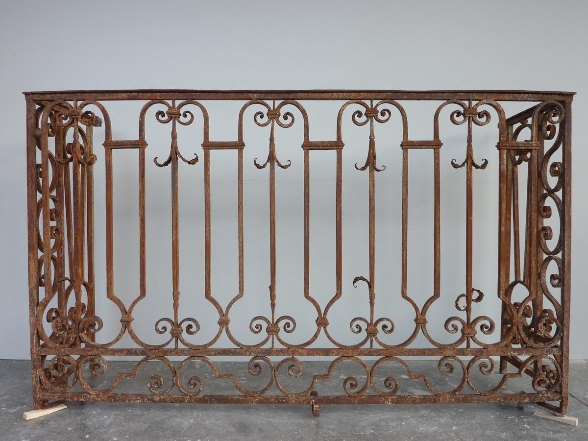Antique balcony, Balustrade  - Wrought iron - Louis XVI - XVIIIthC.