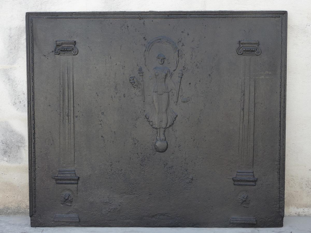 Antique fireback, Cast iron fire-back  - Cast iron - Haussmannien - XIXthC.