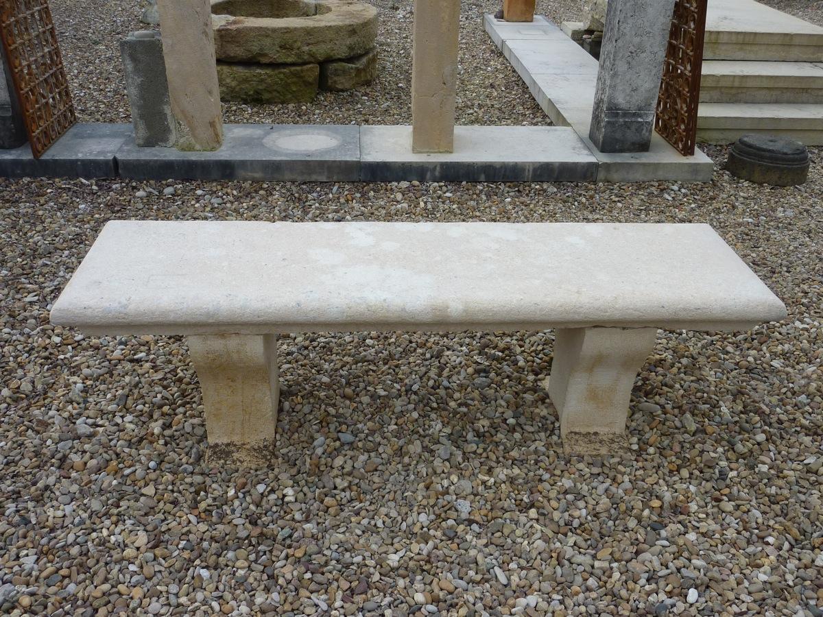 Banc de jardin ancien pierre xixe s dj 667 for Banc de pierre pour jardin