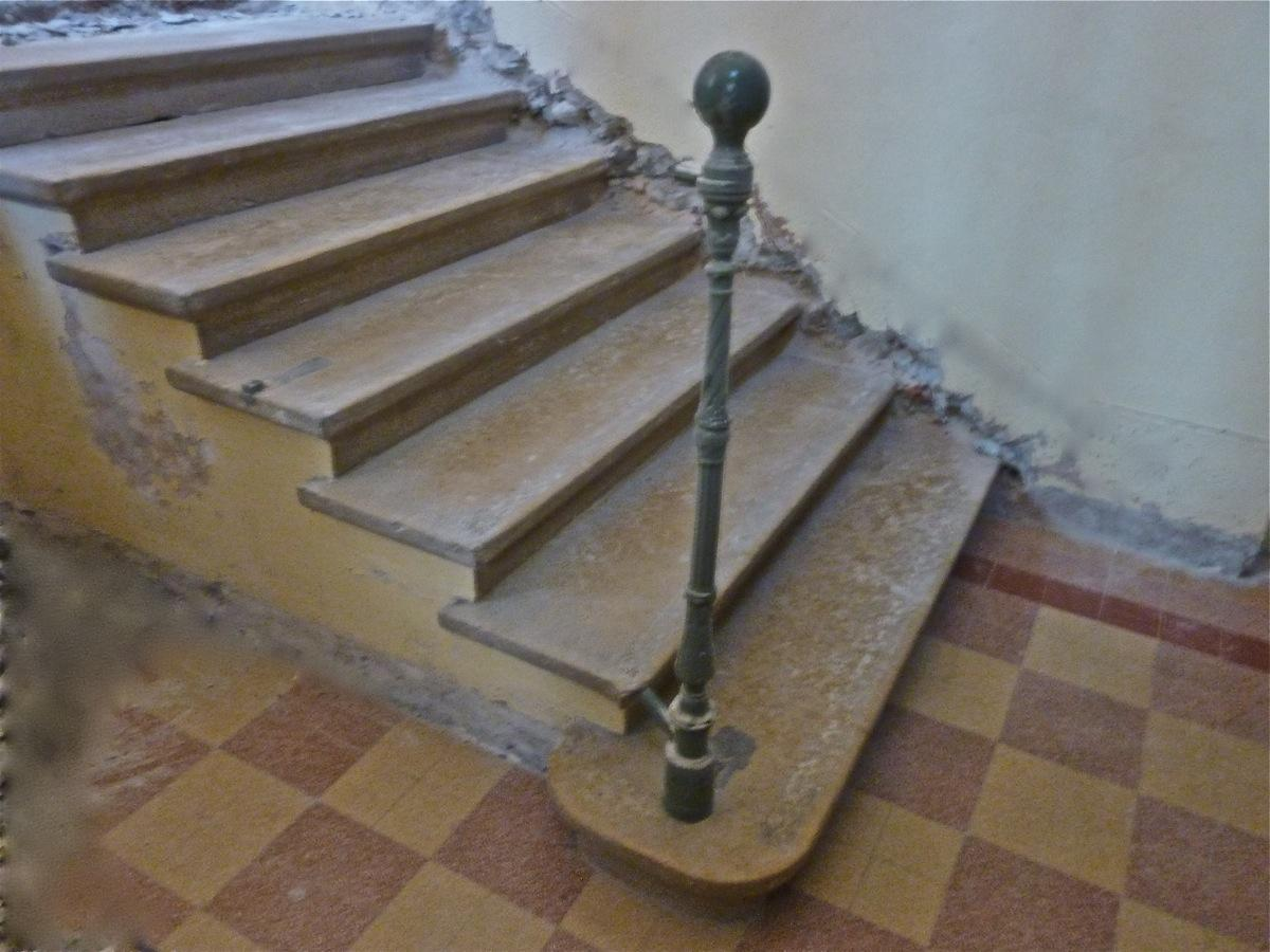 Antique stone stairs, Antique stone front steps  - Stone - Haussmannien - XIXthC.