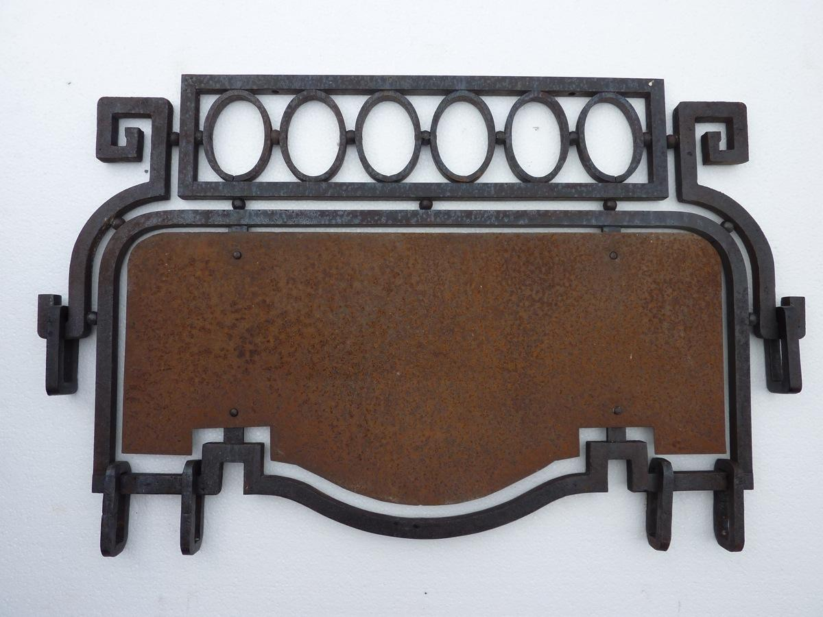 Antique shop sign  - Wrought iron - Art déco - XXth C.