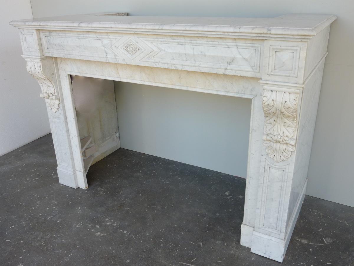chemin e ancienne marbre napol on iii xixe s c 799. Black Bedroom Furniture Sets. Home Design Ideas