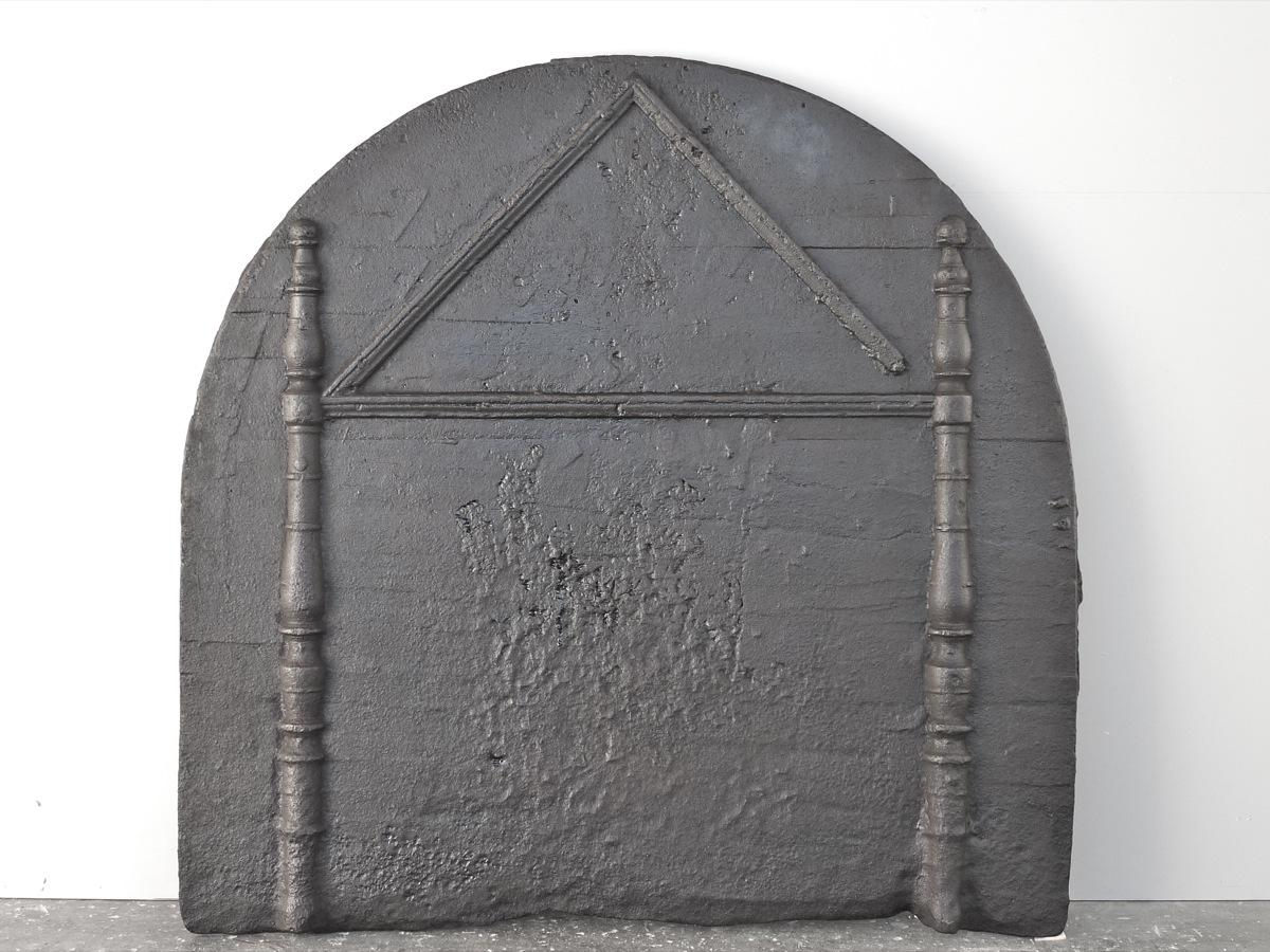 Antique fireback, Cast iron fire-back  - Cast iron - Medieval - XVIIIthC.
