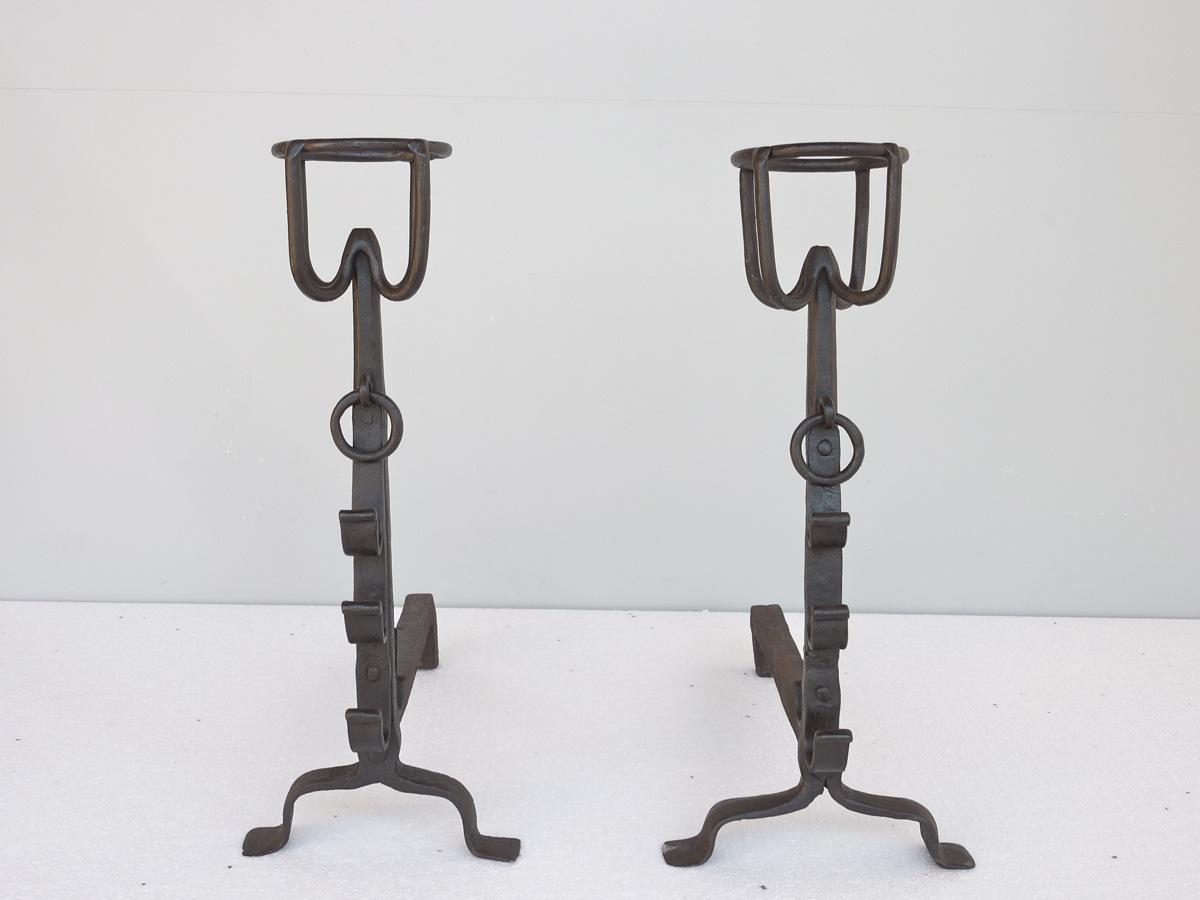 Antique andiron  - Wrought iron - Medieval - XVI<sup>th</sup> C.