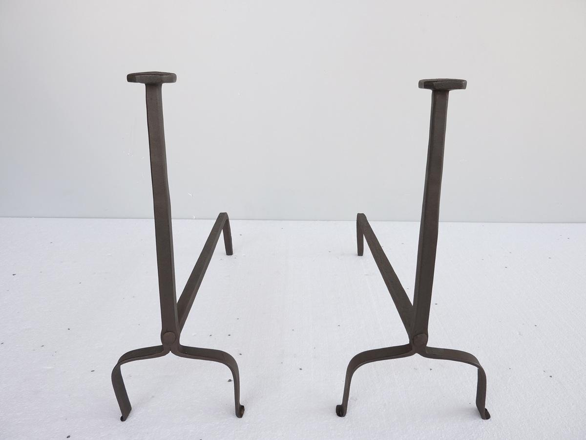Antique andiron  - Wrought iron - Rustic country - XIXthC.