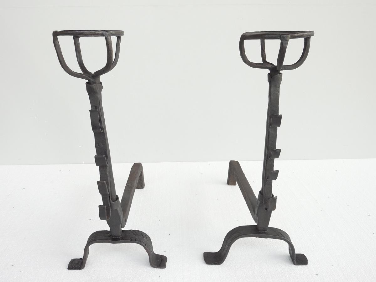 Antique andiron  - Wrought iron - Gothic - XVIIthC.