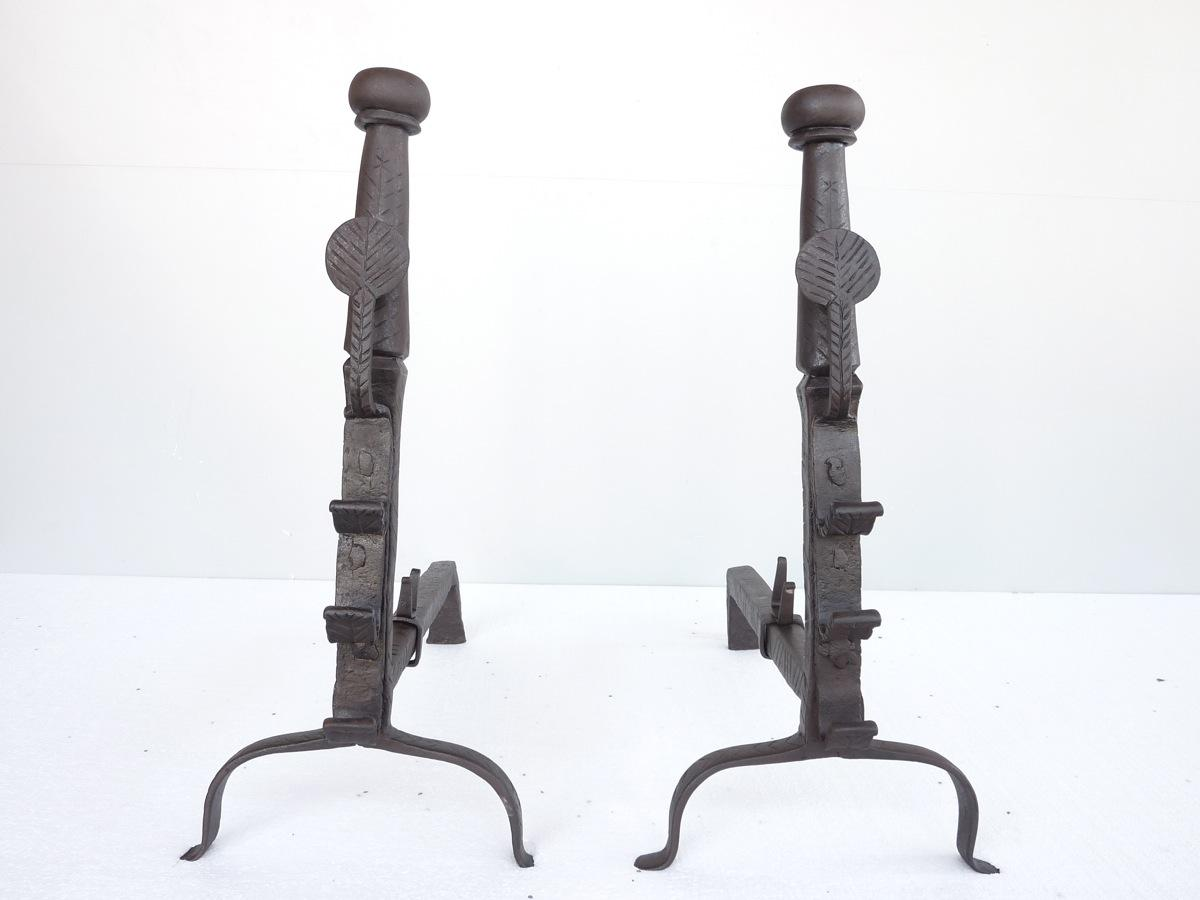 Antique andiron  - Wrought iron - Louis XIV - XVIIthC.