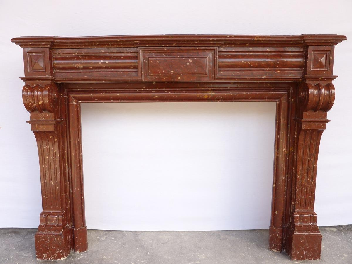 Antique fireplace  - Marble - Haussmannien - XIXthC.