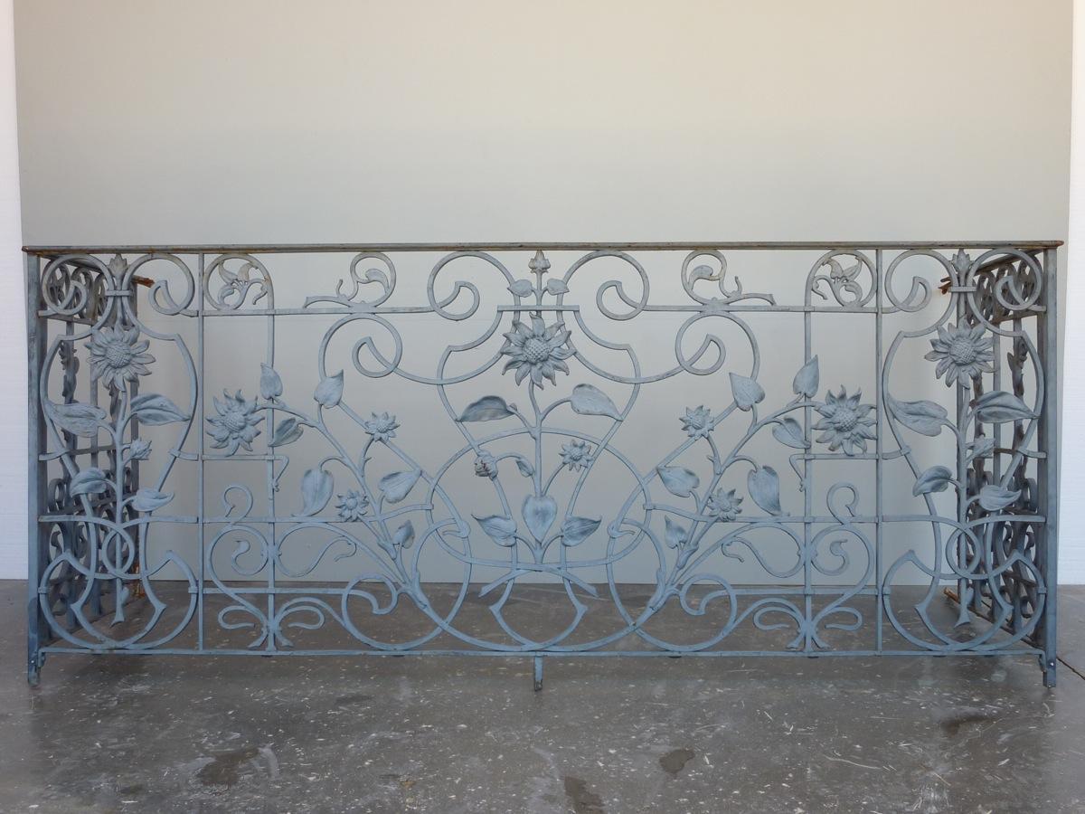 balcon garde corps ancien fonte haussmannien xixe s pf 548. Black Bedroom Furniture Sets. Home Design Ideas