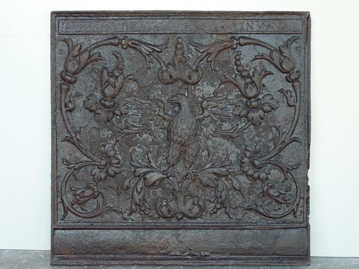 Antique fireback, Cast iron fire-back  - Cast iron - Renaissance - XVIthC.