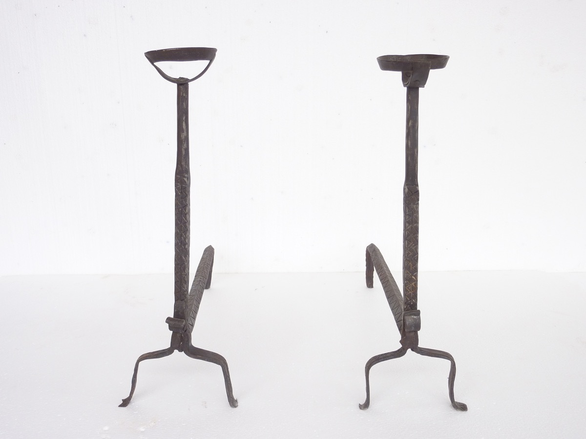 Antique andiron  - Wrought iron - Gothic - XVIthC.