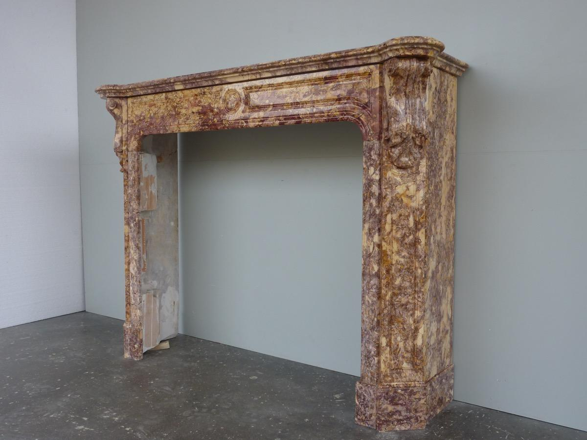 Antique fireplace  - Marble - Napoléon III - XIX<sup>th</sup> C.