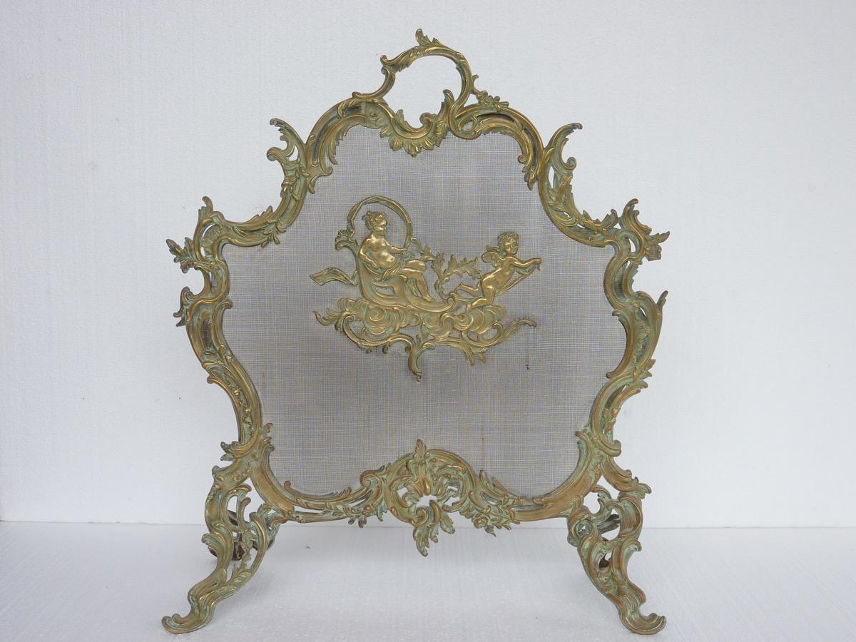 Fire Screen  - Bronze - Louis XV - XIXth C.