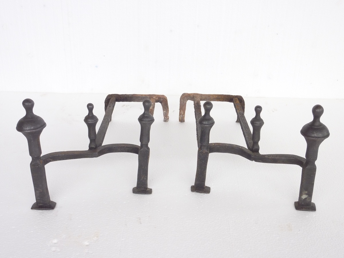 Antique andiron  - Wrought iron - Louis XV - XVIIIthC.